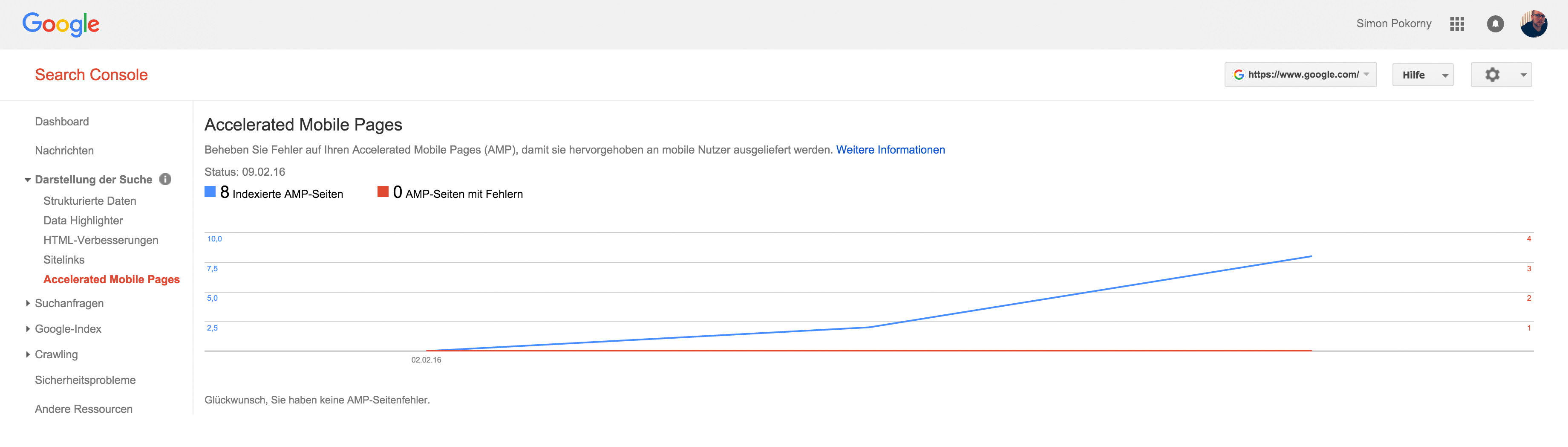 AMP in der Google Search Console