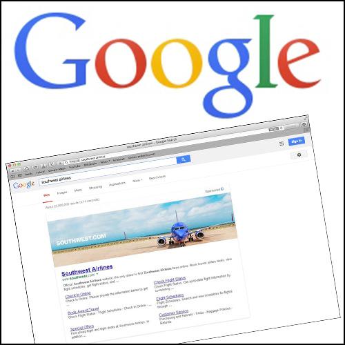 Google Banner in Suchergebnissen