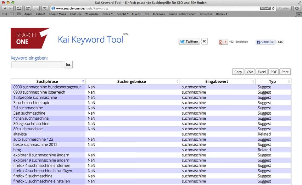 Kai Keyword Tool