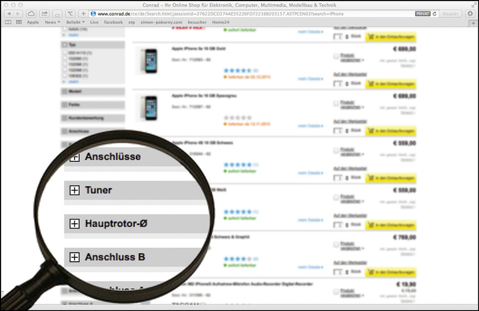 conrad.de suche iphone
