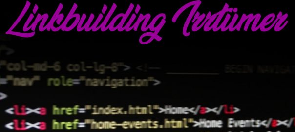 linkbuilding Irrtuemer fehler linkaufbau
