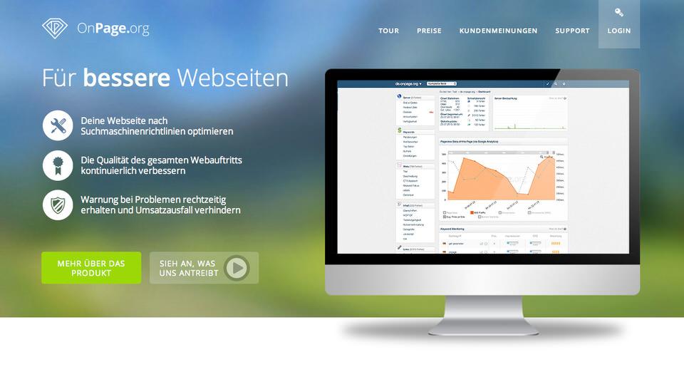 neue Webseite von OnPage 2013