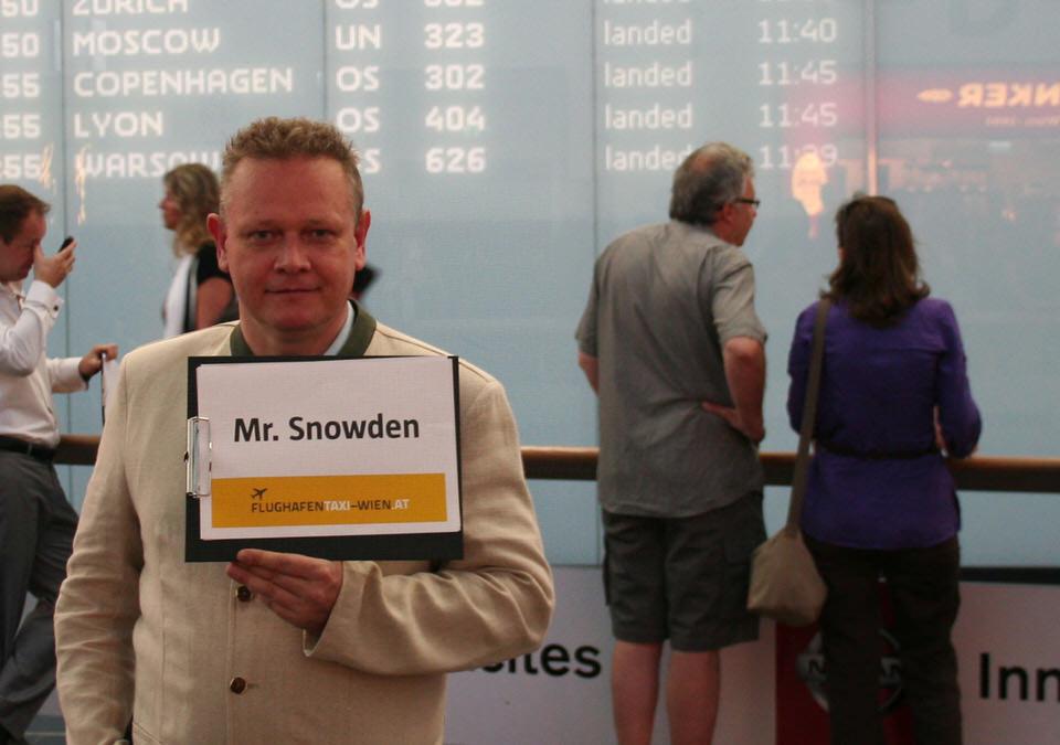Mr. Snowden Guerilla Marketing Aktion